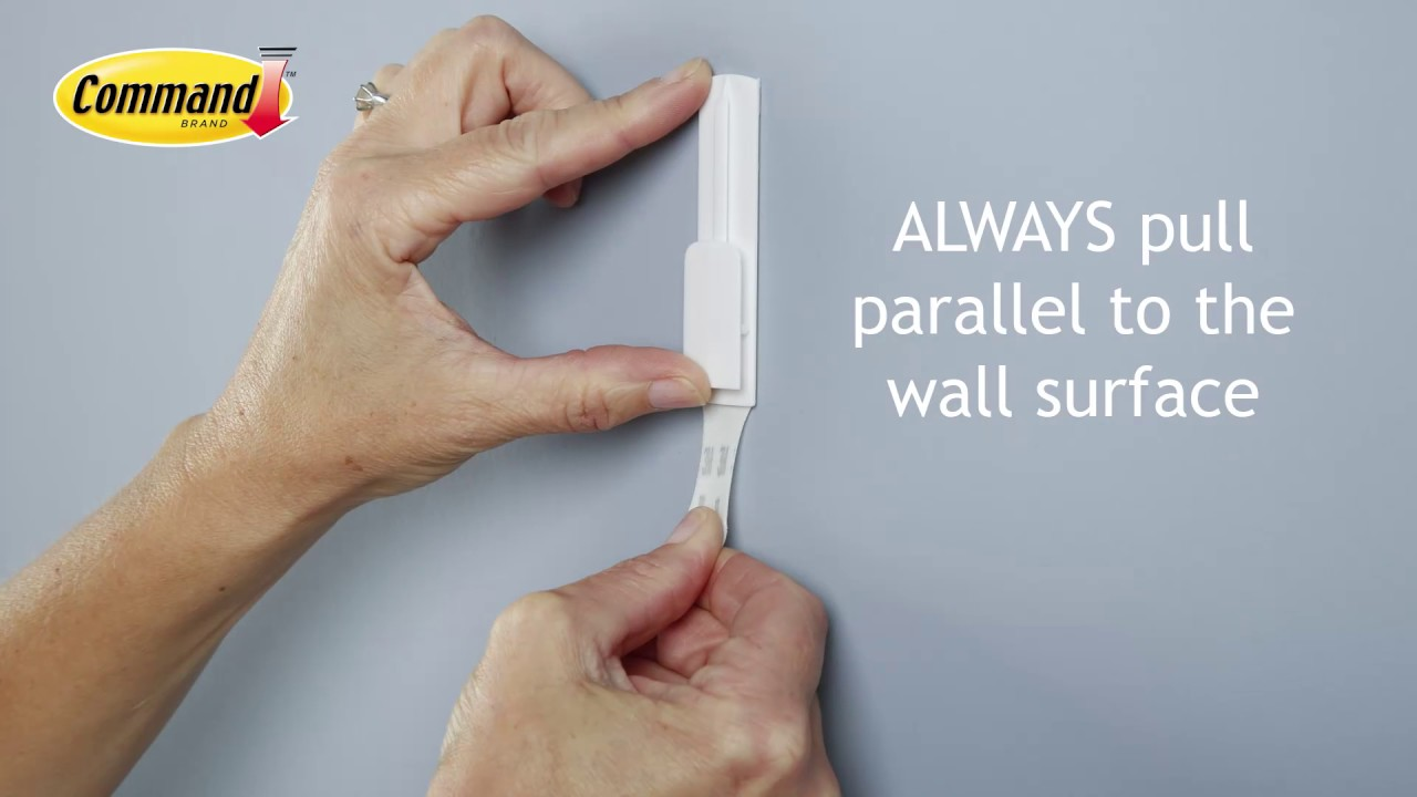 always pull paralell to the wall surface