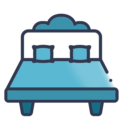 teal bedding icon