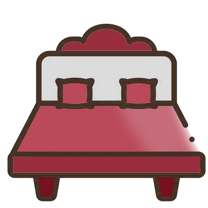 red bedding icon