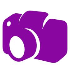 purple camera icon