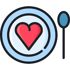 heart on plate icon