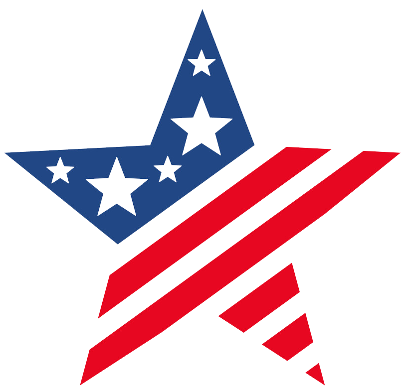 usa flag star icon