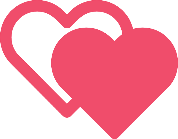 red hearts icon