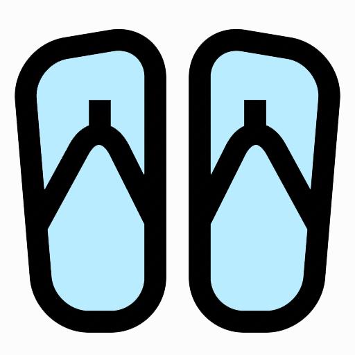 bath sandals icon
