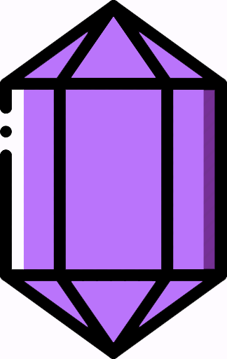 purple crystal icon