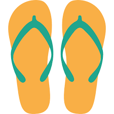 yellow flip flop icon