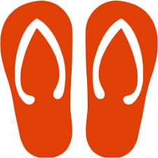 red flip flop icon