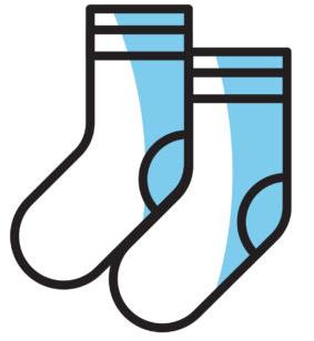 white socks icon