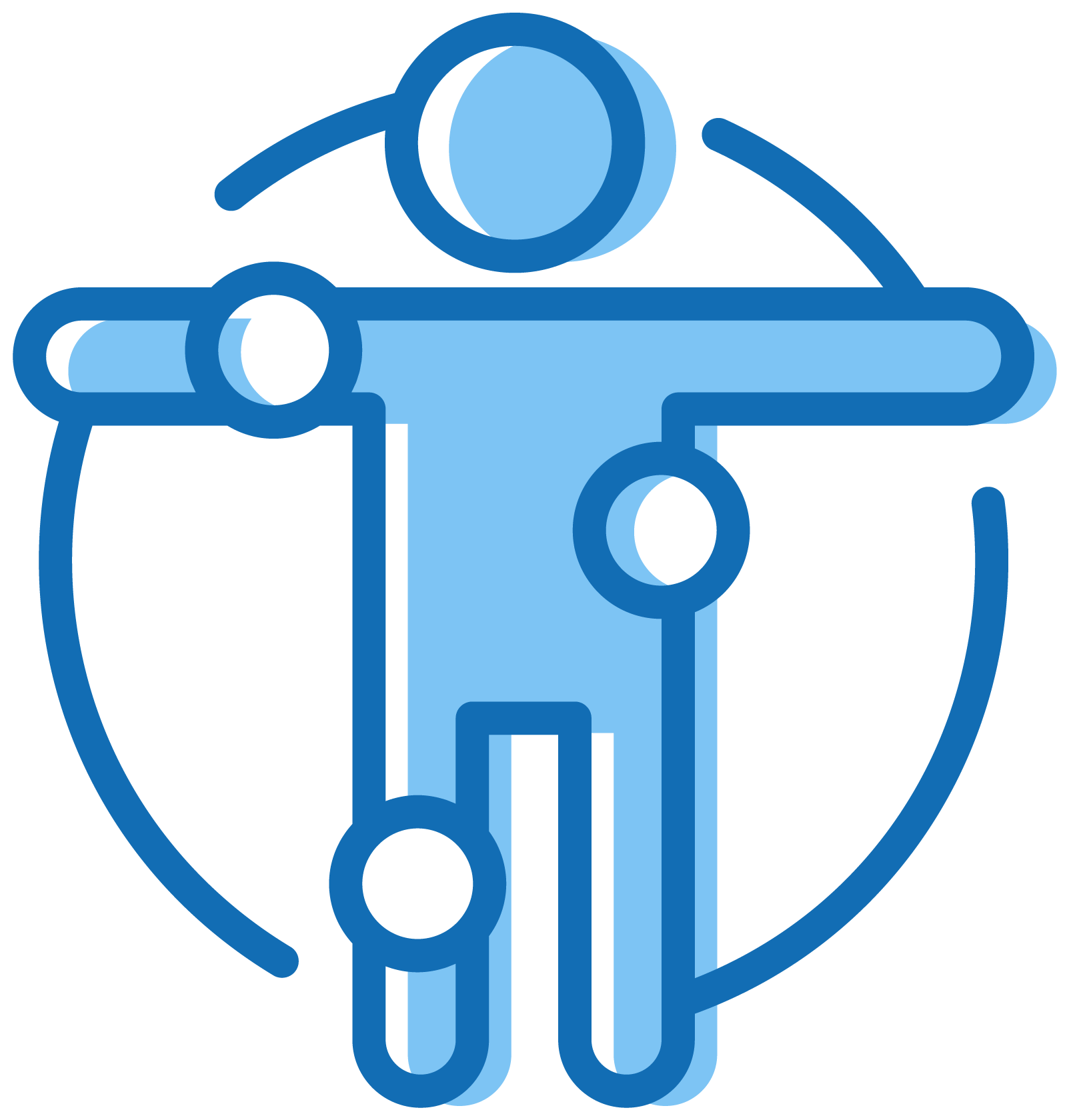 blue silhouette icon