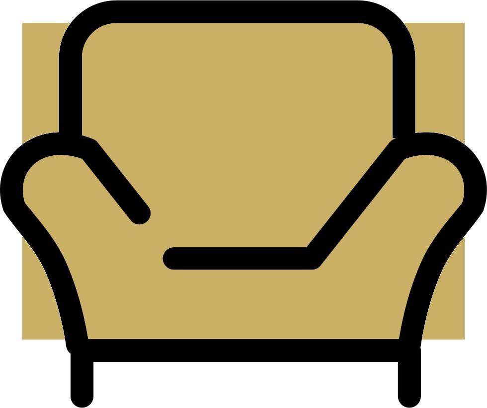 beige chair icon