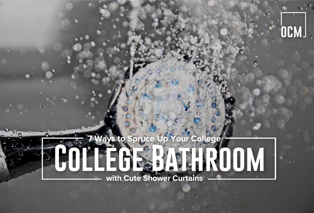 Bathroom with Cute Shower Curtains