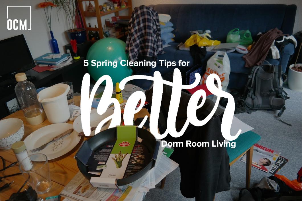 5 Spring Cleaning Tips for Better Dorm Room Living