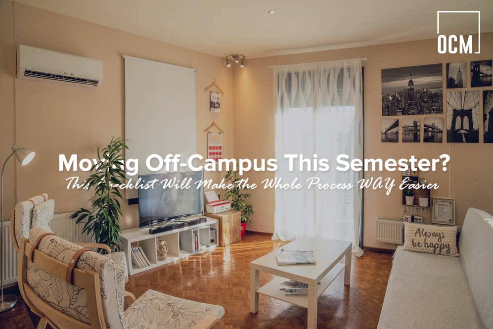 Moving Off-Campus This Semester?