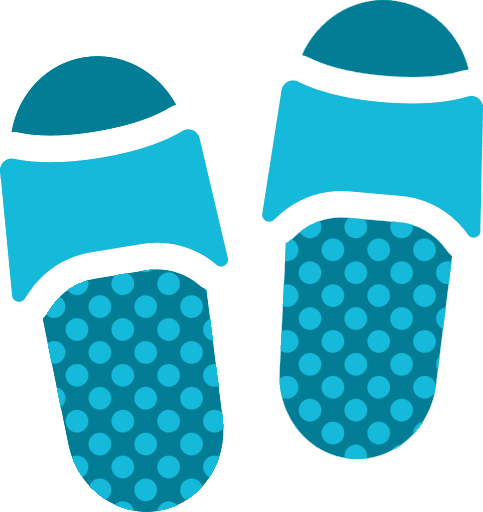 Blue Flip Flop Icon
