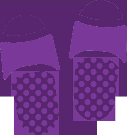 Purple Flip Flop Icon