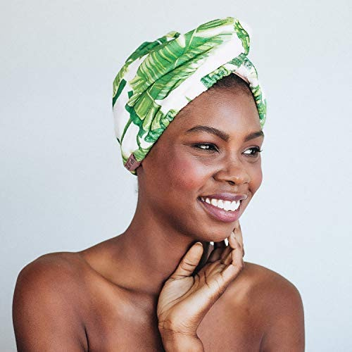 Woman Wearing A Hair Towel Wrap Smiling