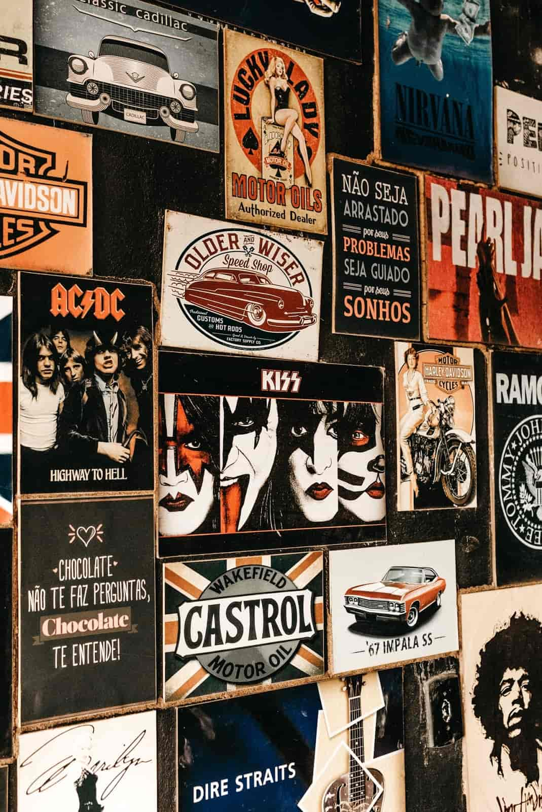 wall with record covers attached