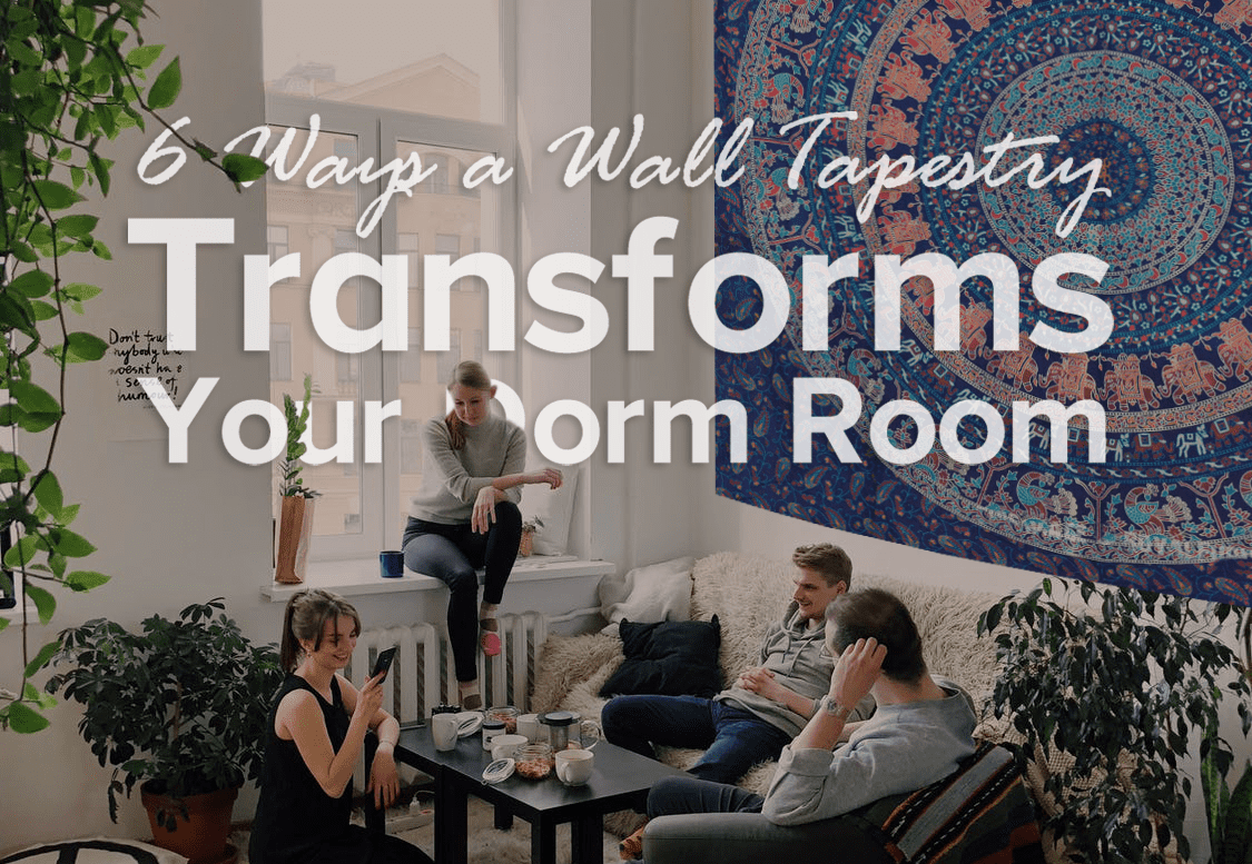 6 ways a wall tapestry transforms your dorm room