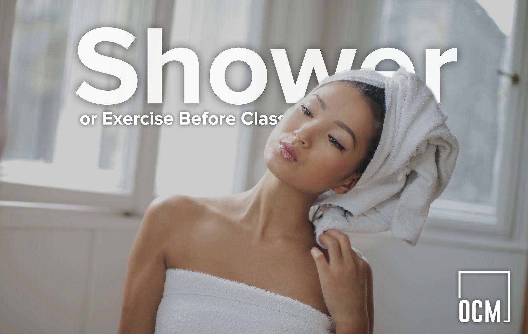 Women get shower