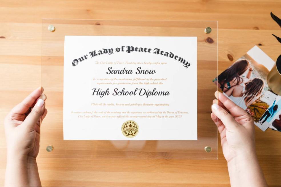Minimalis diploma frame