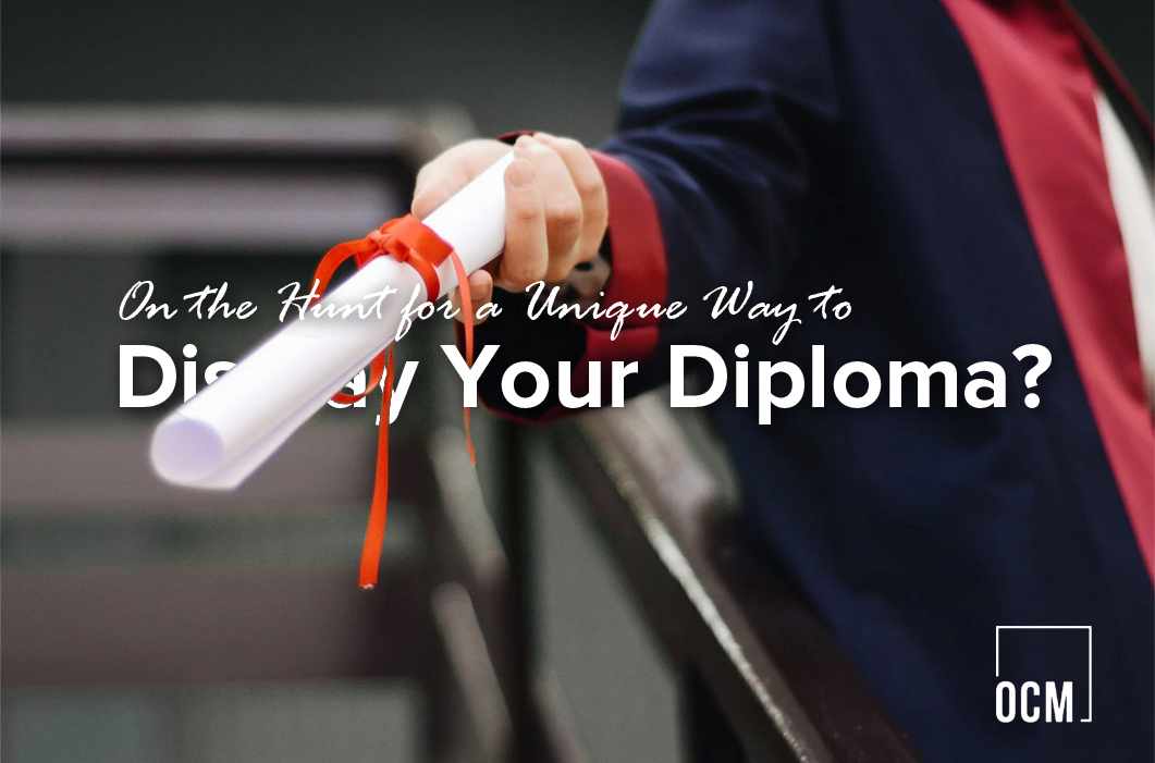 Man holding diploma cetificate