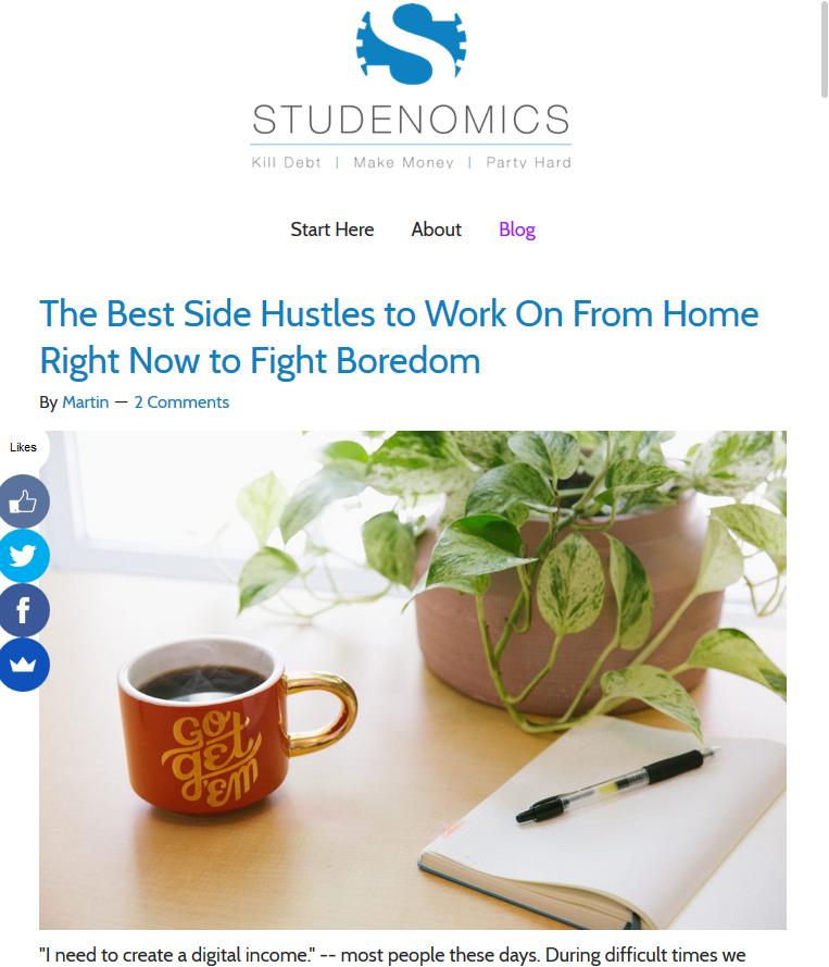 Studeconomics Website