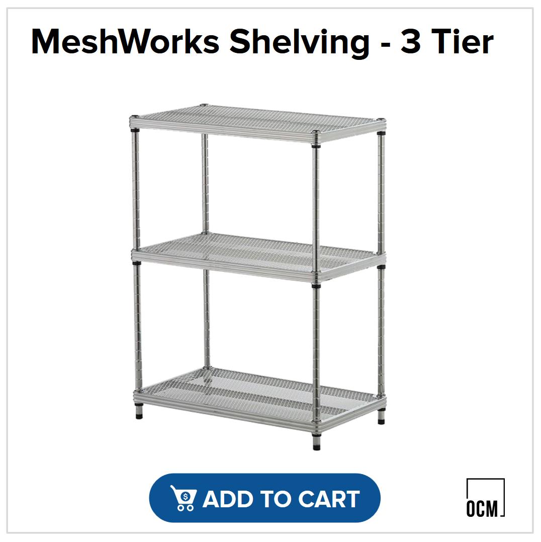 MeshWorks Shelving - 3 Tier