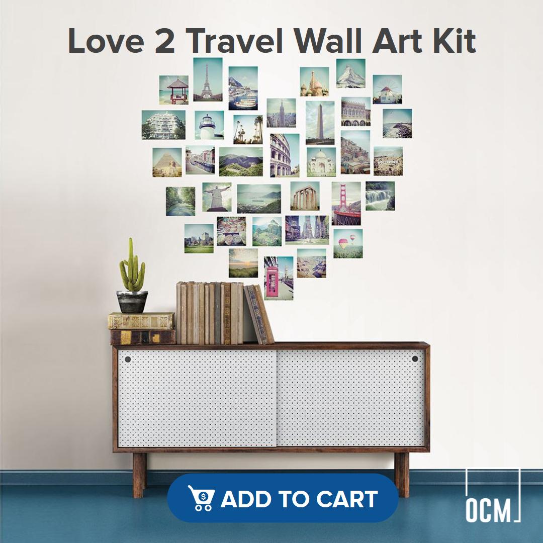 Love 2 Travel Wall Art Kit
