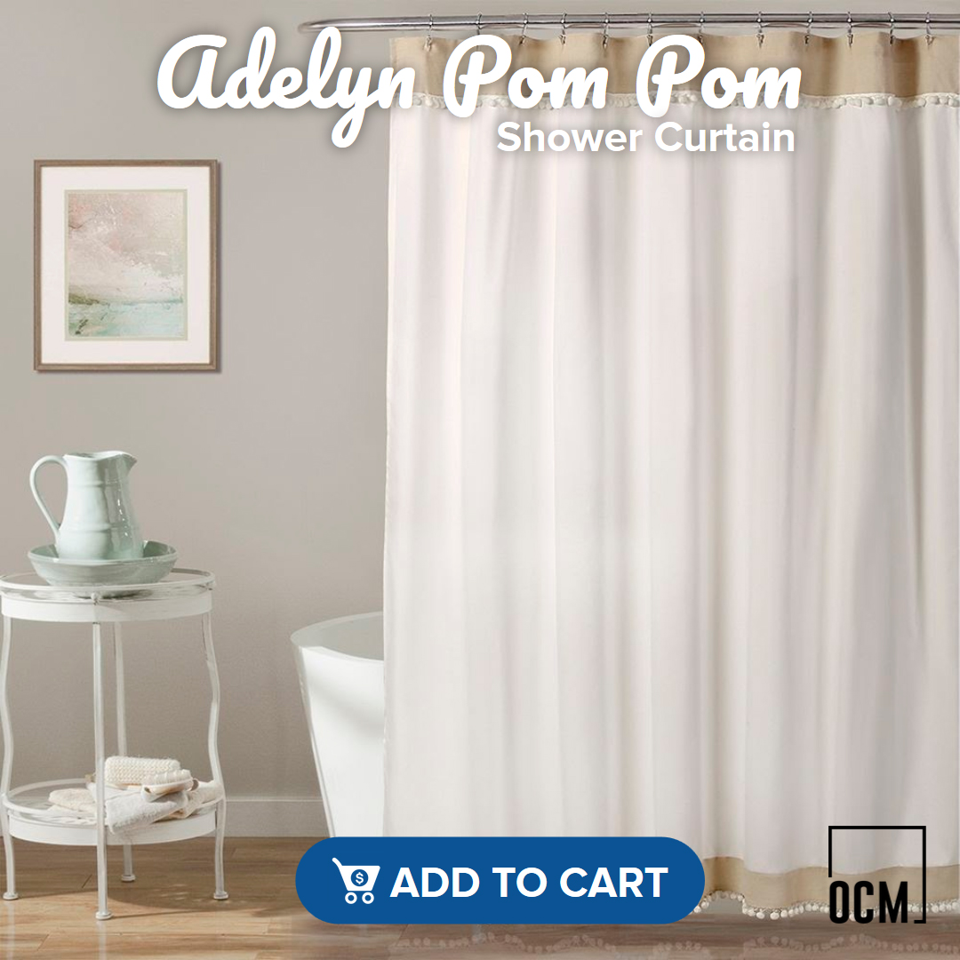 Adelyn Pom Pom Shower Curtain