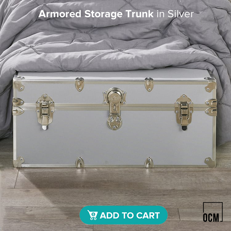 Armored Storage Trunk in Silver