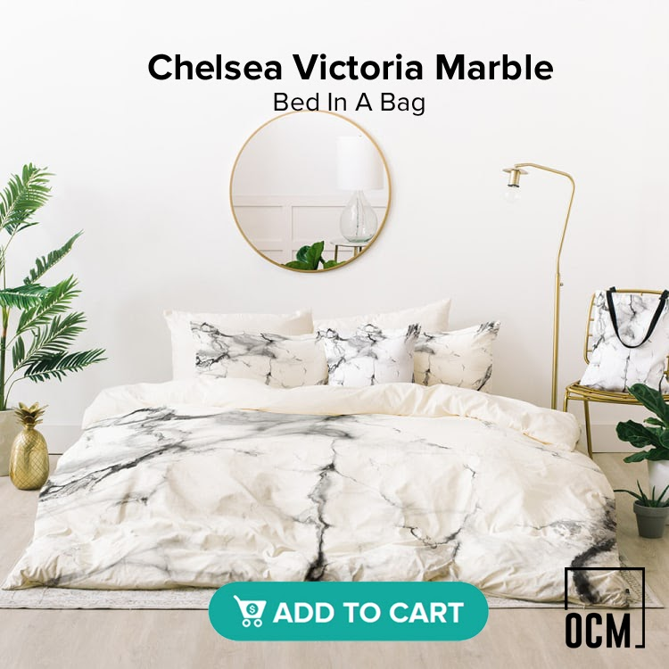 Chelsea Victoria Marble Bed In A Bag