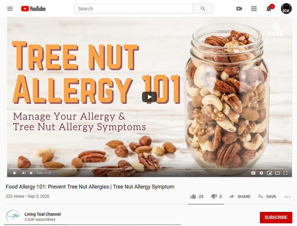 Nut Allergy Video