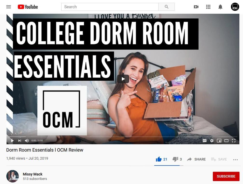 Dorm Room Essentials l OCM Review