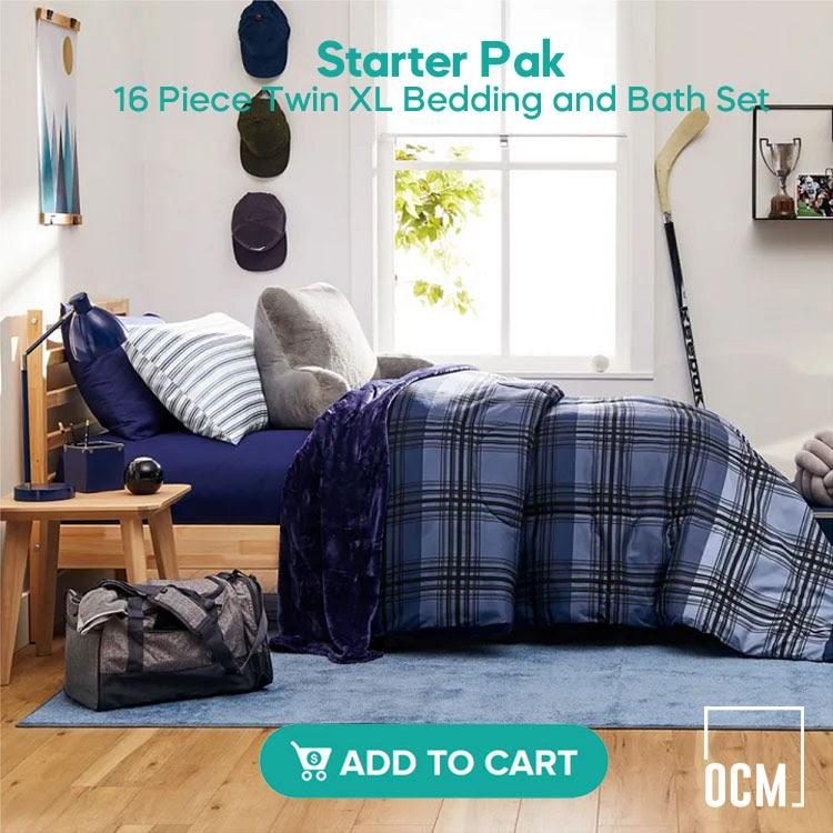Starter Pak - Twin XL Bedding and Bath Set