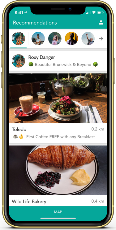 Roamlocal on iPhone & Android Devices