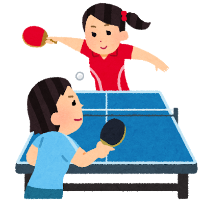 Two table tennis players working hard to win the competition