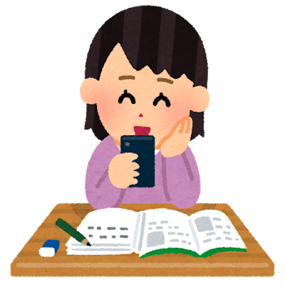 A woman is learning Japanese with Kaizen Languages app