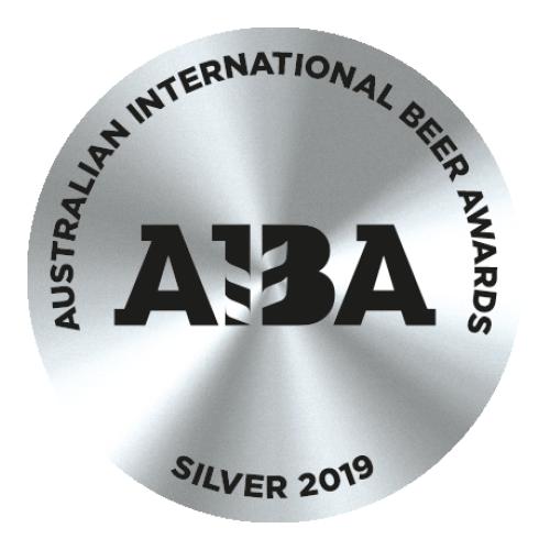 2019 Silver Australian International Beer Award (AIBA)