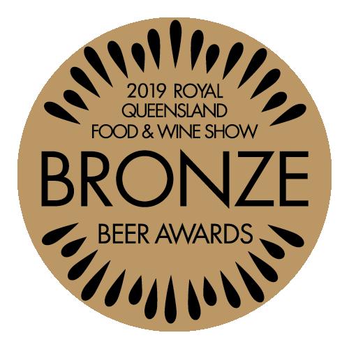 2019 Bronze Royal Queensland Food & Wine Show Beer Award