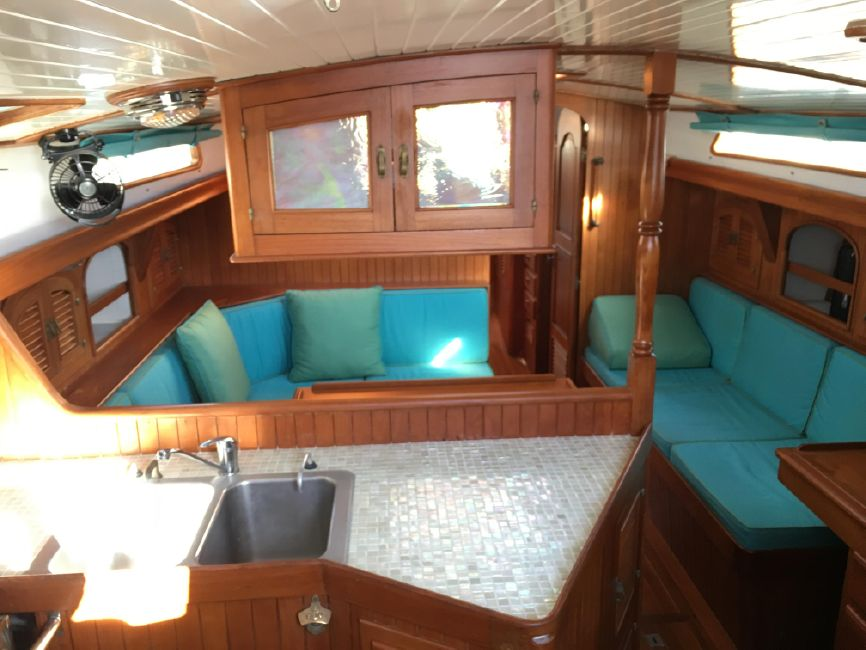 used sailboat interior
