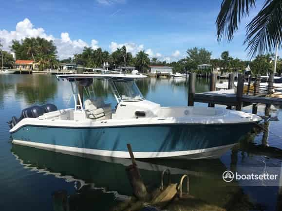 perfect fishing boat miami bay