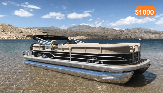 water sport boat rental fees per day