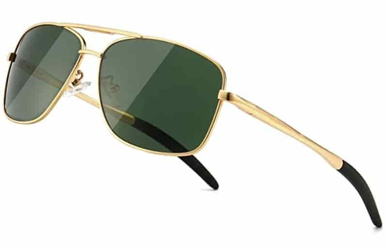 SUNGAIT Men's Sailing Sunglasses Metal Frame