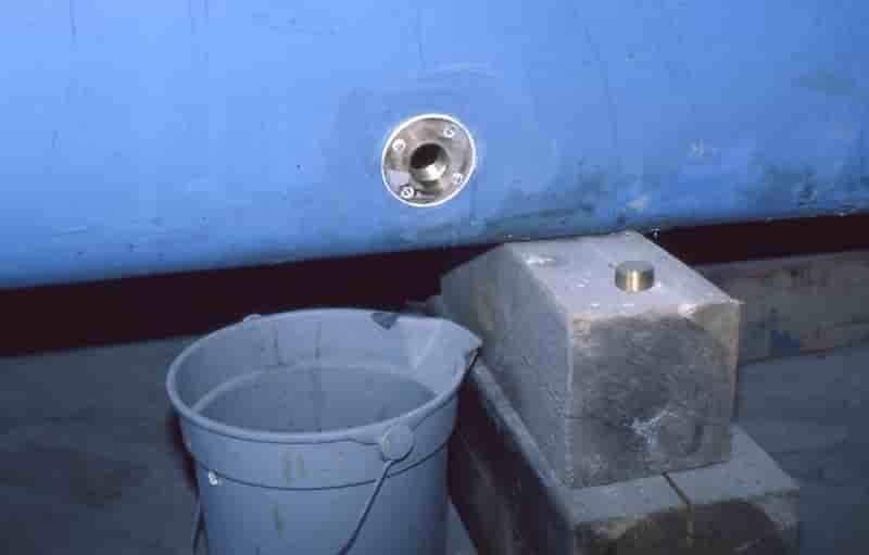 draining boat bilge