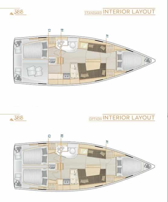 hanse 388 interior
