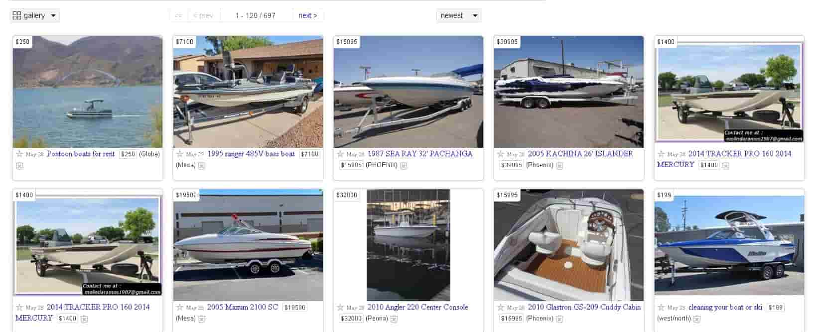 renting out your boat on craigslist