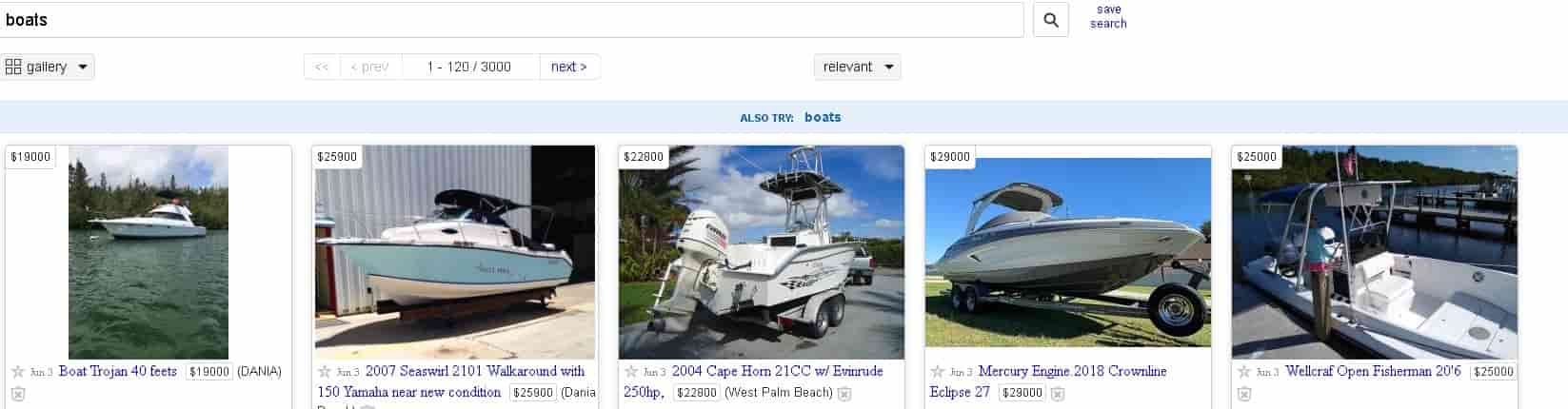 selling watercraft on craigslist