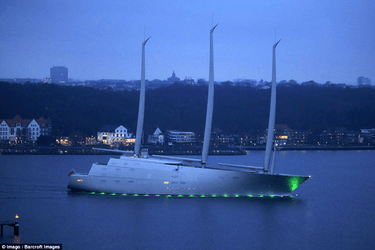 yacht a night time