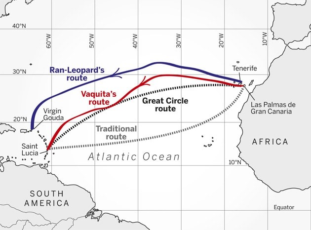 atlantic crossing sailing routes