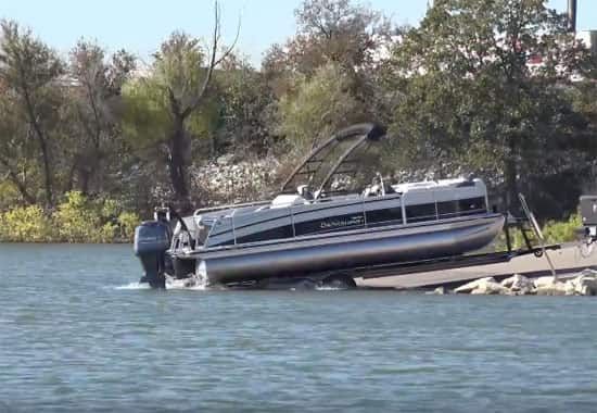 How to pull a pontoon boat out of the water